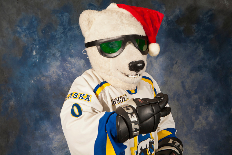 "The nanook poses for his photo at the Marketing and Comminications open house.  <div class=""ss-paypal-button"">Filename: LIF-11-3239-50.jpg</div><div class=""ss-paypal-button-end"" style=""""></div>"