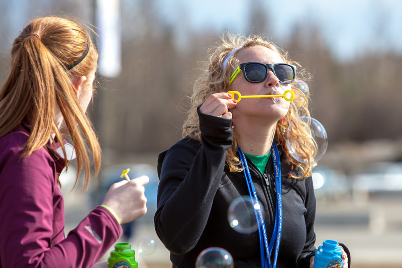 """Mari Freitag, left, and Teal Rogers have fun blowing bubbles during SpringFest 2012.  <div class=""""ss-paypal-button"""">Filename: LIF-12-3382-30.jpg</div><div class=""""ss-paypal-button-end"""" style=""""""""></div>"""