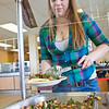 "Junior Anastasia Brease loads up on vegetables during lunch in the Lola Tilly Commons.  <div class=""ss-paypal-button"">Filename: LIF-11-3220-104.jpg</div><div class=""ss-paypal-button-end"" style=""""></div>"
