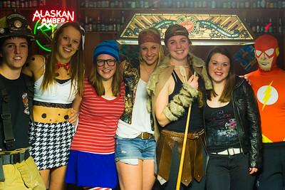 UAF Pub patrons wear various costumes during Halloween.  Filename: LIF-14-4367-32.jpg