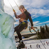 "Engineering major Heather Edic enjoys a late season climb up the UAF ice wall on April 4.  <div class=""ss-paypal-button"">Filename: LIF-14-4132-29.jpg</div><div class=""ss-paypal-button-end"" style=""""></div>"