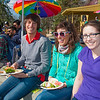 "Erik Soederstroem (left), Theresia Schnurr (center) and Terilyn Lawson (right) eat lunch in front of the Wood Center on campus during the Spring Fest kick off barbeque.  <div class=""ss-paypal-button"">Filename: LIF-12-3375-50.jpg</div><div class=""ss-paypal-button-end"" style=""""></div>"