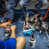 "Raleigh Bartholomew, helps children with their ice skates at the SRC Summer Recreation Camp at the Patty Center Ice Arena.  <div class=""ss-paypal-button"">Filename: LIF-13-3873-51.jpg</div><div class=""ss-paypal-button-end"" style=""""></div>"