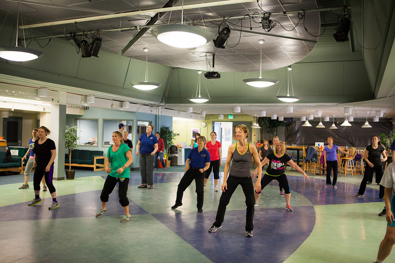 """Zumba is one among many activities offered for staff appreciation day.  <div class=""""ss-paypal-button"""">Filename: LIF-13-3832-54.jpg</div><div class=""""ss-paypal-button-end"""" style=""""""""></div>"""