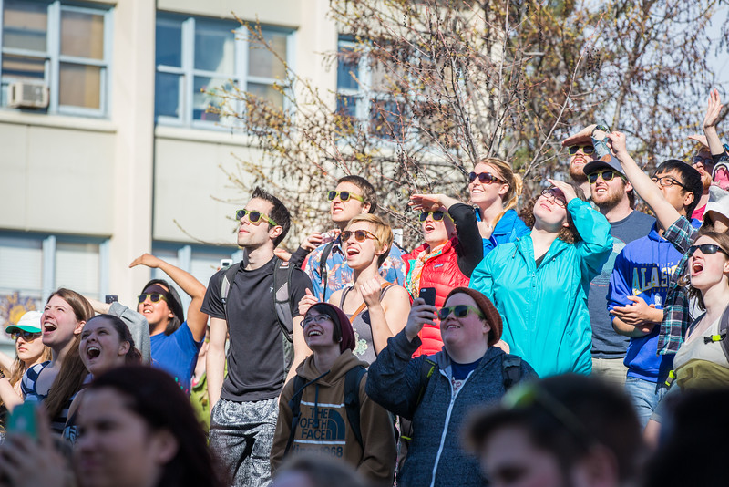 "People react to the 2016 SpringFest watermelon drop on Constitution Park.  <div class=""ss-paypal-button"">Filename: LIF-16-4879-160.jpg</div><div class=""ss-paypal-button-end""></div>"