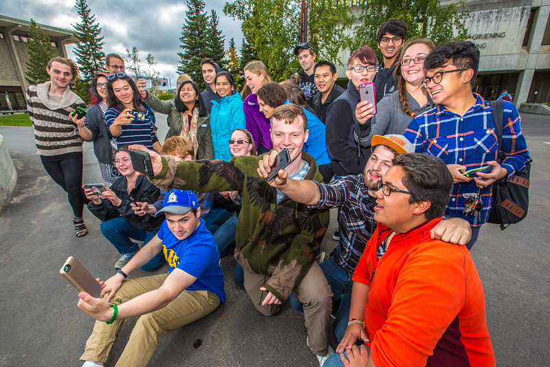 """UAF Orientation Leaders engage in team building exercises before students arrive on campus before the start of the fall 2015 semester.  <div class=""""ss-paypal-button"""">Filename: LIF-15-4635-055.jpg</div><div class=""""ss-paypal-button-end""""></div>"""
