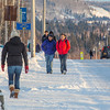 "Students walk along Yukon Drive on the first day of classes in the spring 2013 semester.  <div class=""ss-paypal-button"">Filename: LIF-13-3699-9.jpg</div><div class=""ss-paypal-button-end"" style=""""></div>"
