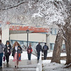 "Students walking around campus on Monday afternoon encountered the first snowfall of the semester.  <div class=""ss-paypal-button"">Filename: LIF-11-3199-64.jpg</div><div class=""ss-paypal-button-end"" style=""""></div>"
