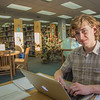 "Freshman political science major Jake Gerrish catches up on some studying on the 5th floor of the Rasmuson Library.  <div class=""ss-paypal-button"">Filename: LIF-14-4045-108.jpg</div><div class=""ss-paypal-button-end"" style=""""></div>"