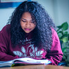 "Kisha Lee, majoring in rural human services at UAF's Kuskoskim Campus in Bethel, studies in the student lounge on campus.  <div class=""ss-paypal-button"">Filename: LIF-16-4859-134.jpg</div><div class=""ss-paypal-button-end""></div>"