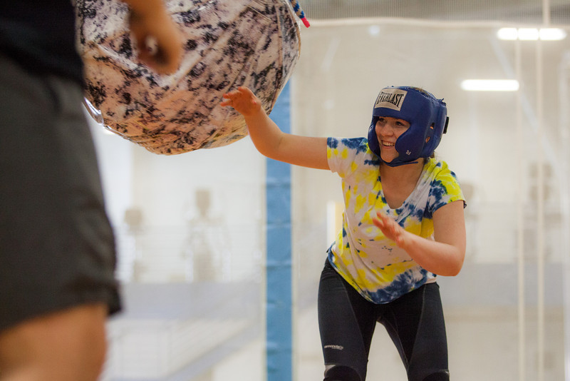 """Nina Ruckhaus battles it out with her friends during the 2013 Spring Fest field day activities at the Student Rec Center.  <div class=""""ss-paypal-button"""">Filename: LIF-13-3803-126.jpg</div><div class=""""ss-paypal-button-end"""" style=""""""""></div>"""