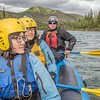 "International students Ko-Fan Lu, front, and Chien-An Peng joined UAF Outdoor Adventures guide-in-training Dakota Reimann-Kershner and others on a raft trip down the Nenana River in June, 2014.  <div class=""ss-paypal-button"">Filename: OUT-14-4211-062.jpg</div><div class=""ss-paypal-button-end""></div>"