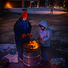 "Mathew Carrick and Sarah Azrael take their turn at the Honors Program homeless vigil Friday morning while the temperature hovered around -20°.  <div class=""ss-paypal-button"">Filename: LIF-12-3653-40.jpg</div><div class=""ss-paypal-button-end"" style=""""></div>"