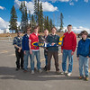 "Engineering majors in the UAF Aero Club gather with their model plane after sending it aloft for a test flight over a parking lot on the Fairbanks campus.  <div class=""ss-paypal-button"">Filename: LIF-12-3366-100.jpg</div><div class=""ss-paypal-button-end"" style=""""></div>"