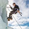 "Engineering major Heather Edic enjoys a late season climb up the UAF ice wall on April 4.  <div class=""ss-paypal-button"">Filename: LIF-14-4132-23.jpg</div><div class=""ss-paypal-button-end"" style=""""></div>"