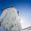 "Students take advantage of nice spring weather to try out their climbing skills on the new ice wall near the SRC.  <div class=""ss-paypal-button"">Filename: LIF-12-3321-139.jpg</div><div class=""ss-paypal-button-end"" style=""""></div>"
