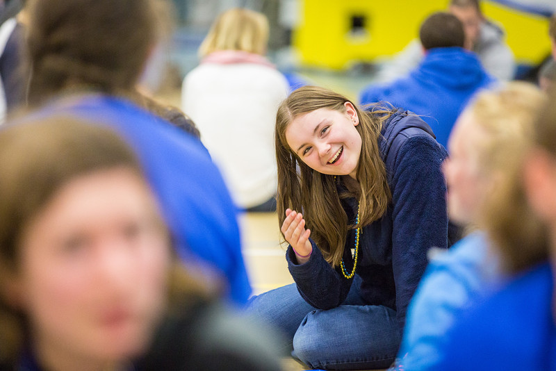 "Incoming student Caitlyn Larcom is all smiles during the last event of New Student Orientation at the Student Rec. Center.  <div class=""ss-paypal-button"">Filename: LIF-13-3924-183.jpg</div><div class=""ss-paypal-button-end"" style=""""></div>"