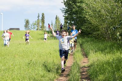 UAF Recreational Camp students tour around campus.  Filename: LIF-12-3428-11.jpg
