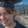 "Senior foreign languages major Lindsey Miller poses in her cap and gown on the roof of the Brooks Building on the Fairbanks campus.  <div class=""ss-paypal-button"">Filename: LIF-12-3352-91.jpg</div><div class=""ss-paypal-button-end"" style=""""></div>"