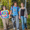 "Grace Amundsen, left, Demetri Martin-Urban and Kaylie Wiltersen stroll through the woods near the west entrance to campus on a nice fall afternoon.  <div class=""ss-paypal-button"">Filename: LIF-12-3544-136.jpg</div><div class=""ss-paypal-button-end"" style=""""></div>"