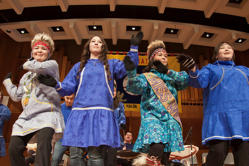 "Members of the UAF Inu-Yupiaq student dancers perform in the Davis Concert Hall on the Fairbanks campus.  <div class=""ss-paypal-button"">Filename: LIF-12-3310-07.jpg</div><div class=""ss-paypal-button-end"" style=""""></div>"