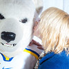 "The Nanook mascot gets a kiss during UAF's  InsideOut event.  <div class=""ss-paypal-button"">Filename: LIF-12-3334-111.jpg</div><div class=""ss-paypal-button-end"" style=""""></div>"