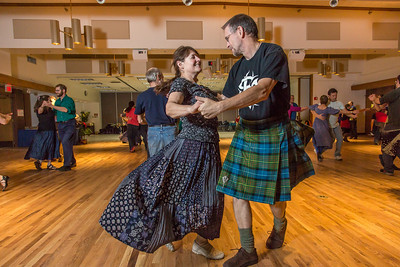 Members of the Fairbanks community joined UAF students and staff for a Contra Dance in the Wood Center Ballroom as part of the 2014 Winter Carnival on campus.  Filename: LIF-14-4085-6.jpg
