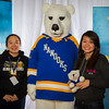 "Prospective students pose with the UAF mascot during the Fall 2015 Inside Out event hosted by UAF's office of admissions and the registrar.  <div class=""ss-paypal-button"">Filename: LIF-14-4353-43.jpg</div><div class=""ss-paypal-button-end""></div>"