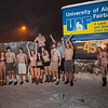 "A group of hardy UAF students join the 40° below club by posing in their shorts or swimsuits by the time & temperature sign at an extreme temperature of 40° below or colder.  <div class=""ss-paypal-button"">Filename: LIF-12-3269-21.jpg</div><div class=""ss-paypal-button-end"" style=""""></div>"