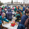 "People brave the cold at the Really Free Market, May 18, 2013 on campus.  <div class=""ss-paypal-button"">Filename: LIF-13-3844-31.jpg</div><div class=""ss-paypal-button-end"" style=""""></div>"