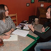 "Shehla Anjum interviews Australian UAF student May-Le Ng at the College Coffee House for an article she is writing about foreigners who chose to migrate to Alaska.  <div class=""ss-paypal-button"">Filename: LIF-11-3202-021.jpg</div><div class=""ss-paypal-button-end"" style=""""></div>"
