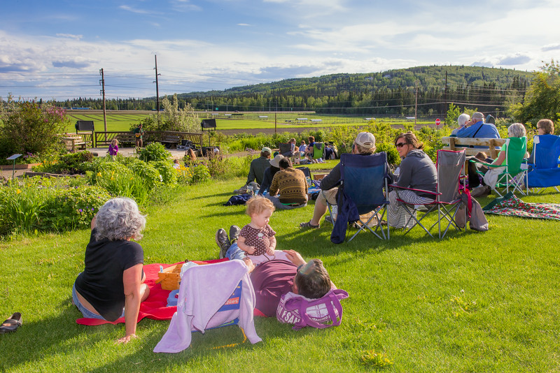 """Local musician Ukulele Russ entertained a nice crowd during UAF Summer Session's free Music in the Garden concert series June 12.  <div class=""""ss-paypal-button"""">Filename: LIF-14-4209-52.jpg</div><div class=""""ss-paypal-button-end""""></div>"""