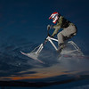 """Engineering major Mike Stanfill tests out his modified ski-bike on the UAF sledding hill.  <div class=""""ss-paypal-button"""">Filename: LIF-12-3305-7.jpg</div><div class=""""ss-paypal-button-end"""" style=""""""""></div>"""