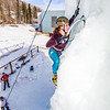 "Engineering major Mia Anderson enjoys a late season climb up the UAF ice wall on April 4.  <div class=""ss-paypal-button"">Filename: LIF-14-4132-80.jpg</div><div class=""ss-paypal-button-end"" style=""""></div>"