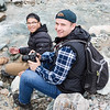 "Kernell Snow (left) and Gabriel Clark (right) capture images of the river in Whistler Creek during the Frozen Lenses Landscape Photography Workshop led by Baxter Bond on Saturday, Sept. 15, 2018.  <div class=""ss-paypal-button"">Filename: LIF-18-5931-89.jpg</div><div class=""ss-paypal-button-end""></div>"