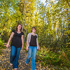 "Lily Grbavach, left, and Kaylie Wiltersen, stroll through the woods near the west entrance to campus on a nice fall afternoon.  <div class=""ss-paypal-button"">Filename: LIF-12-3544-069.jpg</div><div class=""ss-paypal-button-end"" style=""""></div>"
