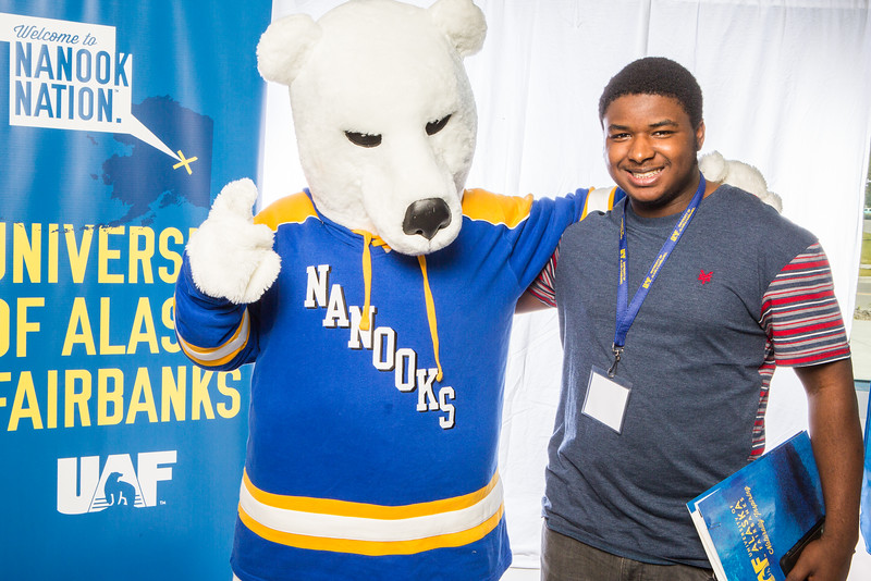"""Prospective students take a portrait during the summer 2016 Inside Out event hosted by the UAF's Office of Admissions and the Registrar.  <div class=""""ss-paypal-button"""">Filename: LIF-16-4926-39.jpg</div><div class=""""ss-paypal-button-end""""></div>"""