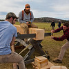 """Jamie Hollingsworth (center) times students Ethan Stephens (left) and  Joe Hunner (right) participated in the 2011 Farthest North Forest Sports Festival hosted by the UAF School of Natural Resources & Agricultural Sciences.  <div class=""""ss-paypal-button"""">Filename: LIF-11-3185-96.jpg</div><div class=""""ss-paypal-button-end"""" style=""""""""></div>"""