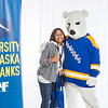 "Future UAF students and family members pose with the Nanook mascot during Inside Out.  <div class=""ss-paypal-button"">Filename: LIF-16-4839-52.jpg</div><div class=""ss-paypal-button-end""></div>"