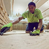 "Steven James with MacChayne's Carpet Plus prepares the subfloor in the Wood Center Ballroom before installation of a new floor.  <div class=""ss-paypal-button"">Filename: LIF-11-3244-25.jpg</div><div class=""ss-paypal-button-end"" style=""""></div>"