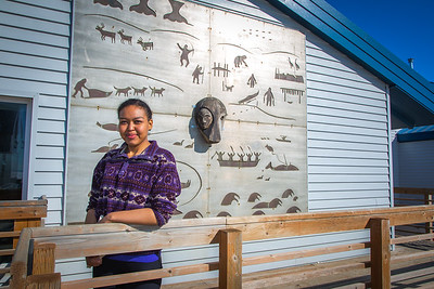 Meranda Okoomealingok, a Native of Savonga on St. Lawrence Island, is studying to be a registered nurse at UAF's Northwest Campus in Nome.  Filename: LIF-16-4865-348.jpg