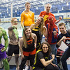 "Students dressed in superhero attire pose for a team portrait before playing ice dodgeball during the 2013 Spring Fest field day.  <div class=""ss-paypal-button"">Filename: LIF-13-3803-6.jpg</div><div class=""ss-paypal-button-end"" style=""""></div>"