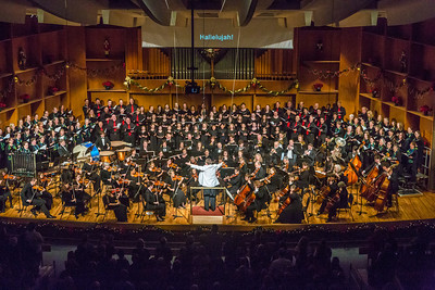 Eduard Zilberkant conducts the Fairbanks Symphony Orchestra along with the Fairbanks Symphony Chorus and the Northland Youth Choir during the annual holiday concert in the Davis Concert Hall.  Filename: LIF-13-4016-185.jpg