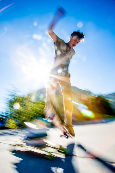 "Skateboarders hone their skills in front of the Rasmuson Library on a fine September afternoon.  <div class=""ss-paypal-button"">Filename: LIF-12-3540-34.jpg</div><div class=""ss-paypal-button-end"" style=""""></div>"