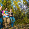 """Lily Grbavach, left, Grace Amundsen, center, and Kaylie Wiltersen stroll through the woods near the west entrance to campus on a nice fall afternoon.  <div class=""""ss-paypal-button"""">Filename: LIF-12-3544-081.jpg</div><div class=""""ss-paypal-button-end"""" style=""""""""></div>"""