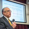 "Cory Borgeson, President and Chief Executive Officer for Golden Valley Electric Association, addressed the Fairbanks community with a presentation on energy issues Jan. 10 in Schaible Auditorium. Borgeson is also an adjunct professor with UAF's School of Management teaching a class on business law each semester.  <div class=""ss-paypal-button"">Filename: LIF-13-3694-25.jpg</div><div class=""ss-paypal-button-end"" style=""""></div>"