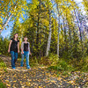 """Lily Grbavach, left, and Kaylie Wiltersen, stroll through the woods near the west entrance to campus on a nice fall afternoon.  <div class=""""ss-paypal-button"""">Filename: LIF-12-3544-096.jpg</div><div class=""""ss-paypal-button-end"""" style=""""""""></div>"""