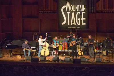 The Fairbanks band Steve Brown and the Bailers performed during one of two live recorded performances of the nationally broadcast radio show Mountain Stage in the Davis Concert Hall Aug. 17 and 18. The shows were sponsored by UAF Summer Sessions and KUAC-FM.  Filename: LIF-12-3502-058.jpg