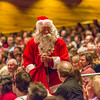 Santa Claus makes an appearance during the Fairbanks Symphony's annual holiday concert in the Davis Concert Hall.  Filename: LIF-13-4016-70.jpg