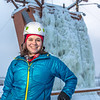 "Outdoor enthusiast Michelle Klaben gets ready to tackle the ice climbing wall which is part of UAF's Terrain Park on a snowy afternoon.  <div class=""ss-paypal-button"">Filename: LIF-13-3721-213.jpg</div><div class=""ss-paypal-button-end"" style=""""></div>"